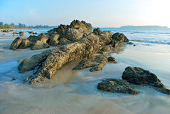 Rocks the Bay of Bengal Royalty Free Stock Photography