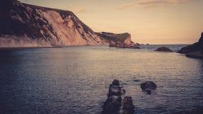 Rocks into the bay Stock Photo