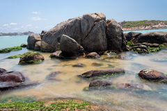 Rocks at the Beach Royalty Free Stock Photo