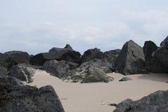 Rocks on the beach. Rocks on a welsh beach Royalty Free Stock Photo