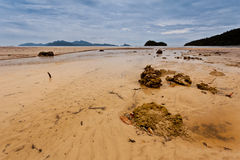 Rocks and Beach. Rocks in a small stream on the beach, Langkawi, Malaysia Royalty Free Stock Images