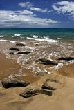 Rocks on The Beach. Rocks formation on the beach, in Kihei, Maui Island Hawaii Stock Image