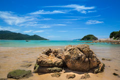 Rocks beside the beach Royalty Free Stock Image