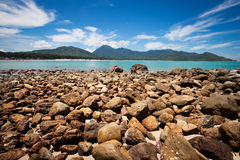 Rocks beside the beach Royalty Free Stock Photography