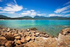 Rocks beside the beach Stock Photo