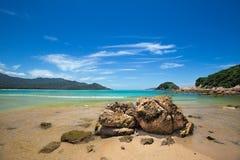 Rocks beside the beach Royalty Free Stock Photo