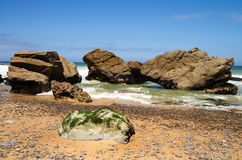 Rocks by the beach, Cabo da Roca Royalty Free Stock Photography