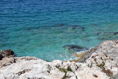 Rocks At Beach Croatia Royalty Free Stock Photos
