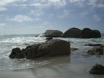 Rocks on a beach Stock Image