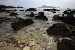 Rocks on beach. Many rocks on the beach Royalty Free Stock Photos