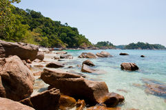 Rocks on the beach. Many rocks on the beach of Lipe island, Thailand Royalty Free Stock Photo