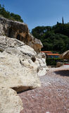 Rocks on the beach. Near Petrovac town, Montenegro royalty free stock photography