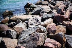 Rocks on the beach Royalty Free Stock Image