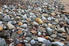 Rocks on Beach Royalty Free Stock Photos