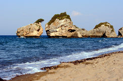 Rocks on the beach Porto Zorro Royalty Free Stock Photo