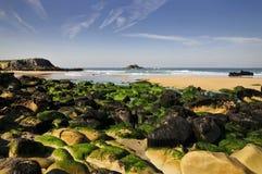 Rocks on the beach at Quiberon Royalty Free Stock Photos