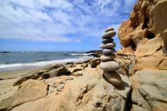 Rocks at Beach #3. Rocks and Sandstone outcrop At Pescadero Beach, California Stock Photo