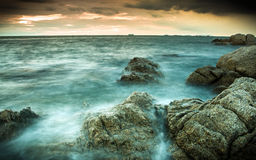 Rocks beach Stock Photo