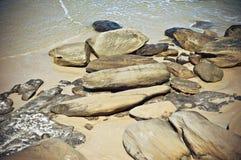 Rocks on beach Royalty Free Stock Photo