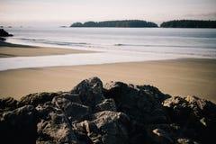 Rocks on a Beach Shoreline Stock Photo