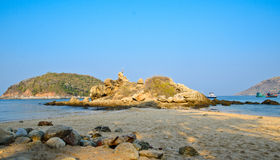 Rocks and beach Royalty Free Stock Photography