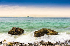 Rocks on the beach in Tropical sea at Talay Waek Krabi Stock Photo