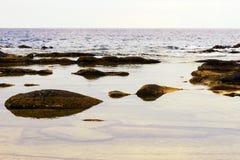Rocks on the Beach of White Sea Stock Photos