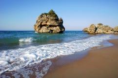 Rocks on beach at Zakynthos island Royalty Free Stock Image