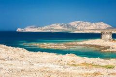 Rocks on beautiful beach, Sardinia island, Italy royalty free stock image