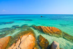 The Rocks and Beautiful sea Stock Image