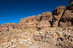 Rocks of Beidha Royalty Free Stock Image