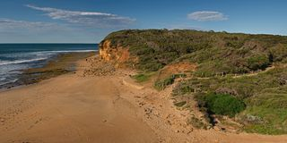 Rocks at Bells Beach Stock Photography