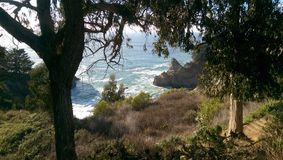 Rocks Below. Beautiful views in every direction at Julia Pffeifer Burns State Park, CA Royalty Free Stock Image
