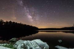 Rocks Below The Milky Way Stock Image