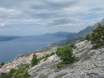 Rocks Biokovo above sea level Royalty Free Stock Photo