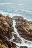 Rocks Of The Black Sea Stock Photography