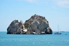 Rocks in Black Sea, Gurzuf, Crimea Stock Image