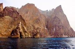 Rocks in Black Sea. Mountains in Black Sea, Crimea Royalty Free Stock Photo