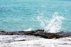 Rocks and blue sea Royalty Free Stock Images