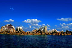 Rocks And Blue Sky. Beautiful island at Bangka Belitung west Indonesia Stock Images