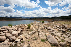 Rocks and boulders near a lake Royalty Free Stock Photos