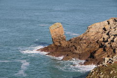 Rocks on breton coast in Plogoff Stock Image