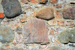 The rocks and bricks old Vilnius defense wall Stock Image