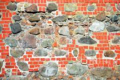 The rocks and bricks old Vilnius defense wall Royalty Free Stock Photos