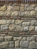 Rocks and Bricks Wall Royalty Free Stock Photo