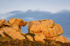 Rocks in the Brittany Royalty Free Stock Photo