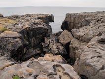 Rocks in the Burren in Ireland Stock Photo