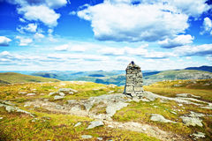Rocks cairn at mountains Royalty Free Stock Photography