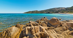 Rocks in Cala Battistoni beach Stock Photo