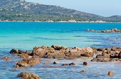 Rocks in Cala Brandinchi. Rocks in the beautiful sea of Cala Brandinchi Royalty Free Stock Photos